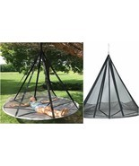Hammock With Tree Straps Round Outdoor Daybed Lounge Double Hanging Camp... - €292,79 EUR