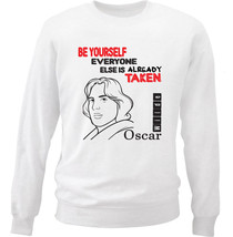Oscar Wilde Be Yourelf 1 - New White Cotton Sweatshirt - $34.53