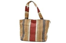 AUTHENTIC CHANEL Canvas Striped Tote Bag Multi-Color - $360.00