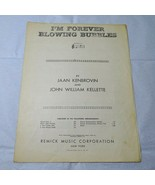 Vintage I'm Forever Blowing Bubbles Piano Sheet Music Remick Music  - $5.93
