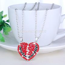 Cute Mom Mother & Daughter Best Friend Heart Pendant Necklace Charm - €6,10 EUR+