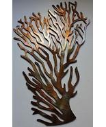 "Coral Branch Ex Large Fan Metal Wall Art Decor 34"" tall - $89.99"