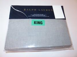 Ralph Lauren Grey Haberdashery king fitted sheet New $185 - $106.65
