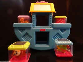 Fisher Price Noahs Ark Peek a Boo Blocks Lot Blue Balancing Boat Baby Ch... - $22.76