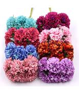 Marigold 6pcs/bunch 3.5cm mini daisy flower bouquet artificial flower we... - $1.20