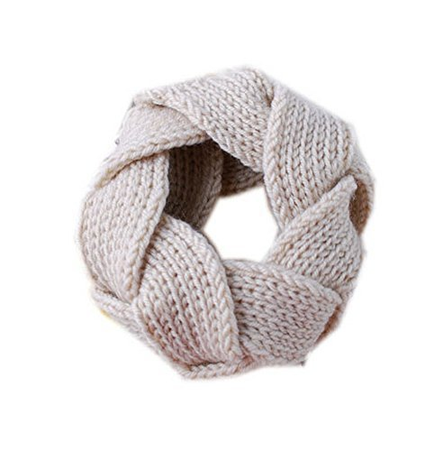 Celebrity Style Braid Head Band Beige Knitted Wide Hair Wrap