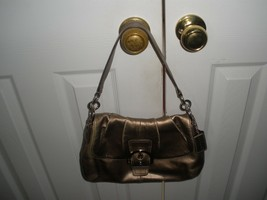 COACH   SHOULDER  leather GOLD   WOMEN BAG - $22.76