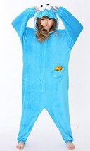 Fleece Costume for Adult Sesame Street Cookie Monster kow198 from Japan New - $94.00