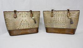 NWT Brahmin Medium Asher Leather Tote/Shoulder Bag Barley Bronte - Beige Brown image 11