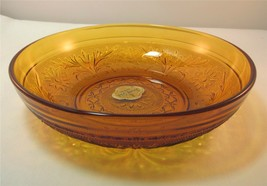 Anchor Hocking SANDWICH Desert Gold Glass Bowl Cereal Soup Candy New Wit... - $12.00