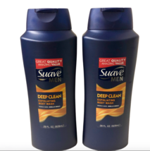 Suave Men Deep Clean Exfoliating Body Wash 2 Pack Lot Size 28 oz. Sandal... - $38.99