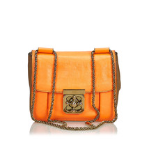 Authentic Chloe Orange Leather Elsie Crossbody Bag France - $429.17