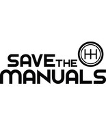 """SAVE THE MANUALS DECAL 5"""" 10"""" 12""""  SIZES Available  STICKER ***FREE SHIP... - $5.93+"""