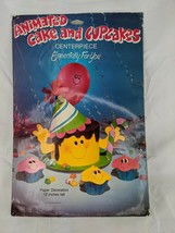 Animated Cake and Cupcakes Paper Decoration Centerpiece 1982 - $9.95