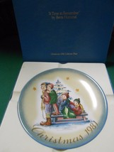 """-SCHMID Collector Plate """"A Time To Remember"""" Christmas 1981 by Berta Hummel - $6.80"""