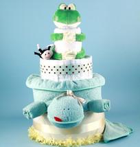 Deluxe Friendly Frog Diaper Cake Baby Gift - $188.00