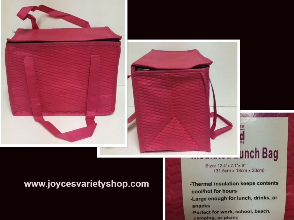 Pink insulated bag family maid web collage
