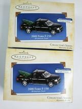 2 NEW 2000 Ford F-150 Pickup Truck Hallmark Christmas Ornaments All Amer... - £16.37 GBP