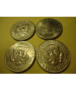 LOT OF 4 KENNEDY HALF DOLLARS (DIFFERENT DATES ONE IS 1983)  COMBINED SH... - $4.00