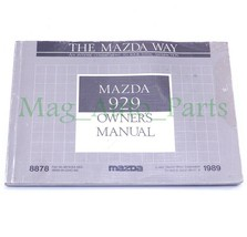 1989 Mazda 929 Owners Manual Booklet Reference OEM 89 USER Guide Book - $9.90