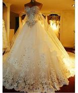 Luxuriou Sweetheart Long Wedding Dresses with Rhinestone - $249.99+