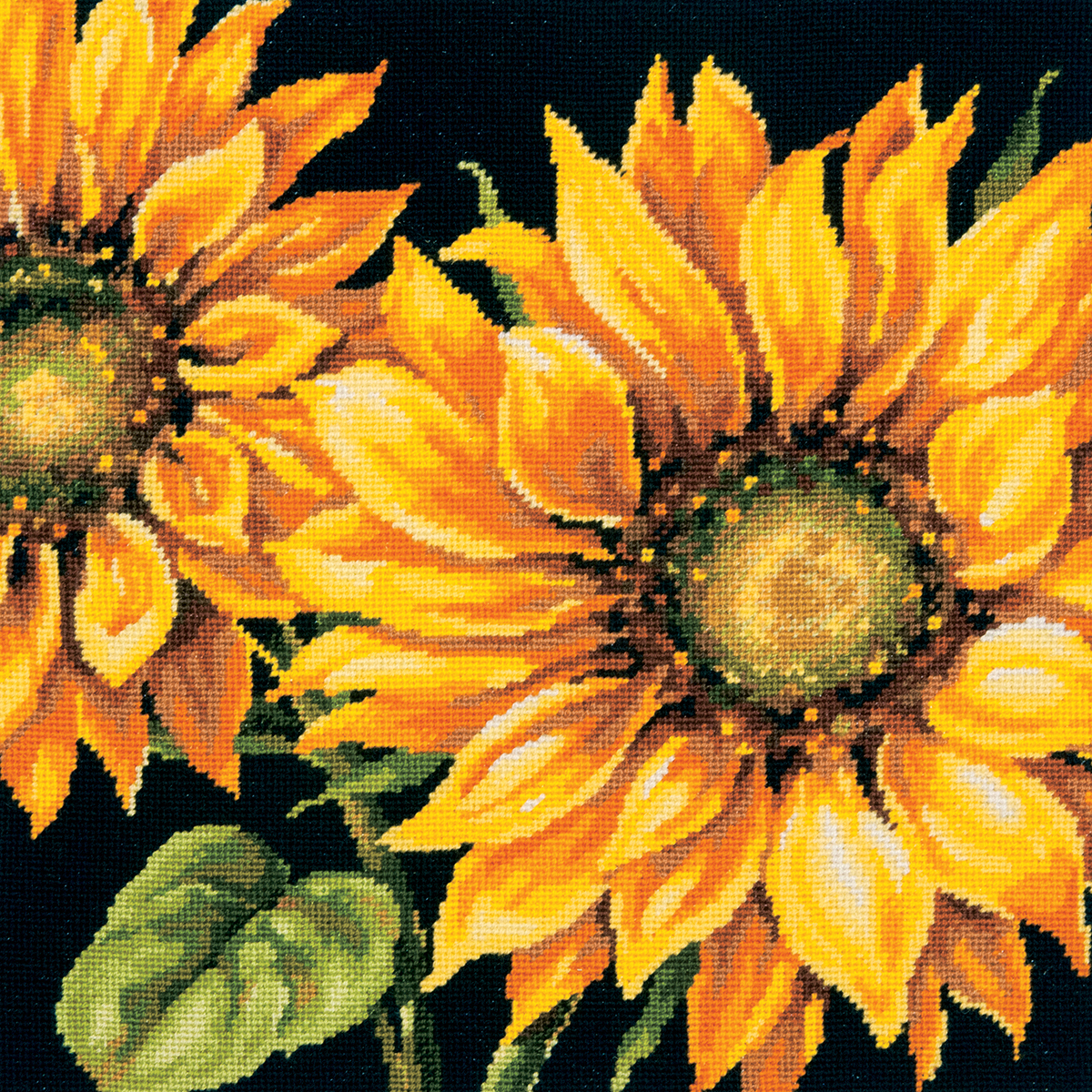 "Primary image for Dimensions Needlepoint Kit 14""X14""-Dramatic Sunflower Stitched In Wool"