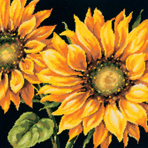 "Dimensions Needlepoint Kit 14""X14""-Dramatic Sunflower Stitched In Wool - $41.61"