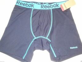 NEW REEBOK MEN'S PERFORMANCE TRAINING BOXER BRIEF FAUX INDIGO/NEON BLUE ... - $14.84