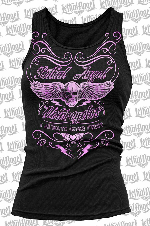 Lethal Angel i Come First Motorcycles Biker Punk Alas Batidor Tank Top LT20387 image 2