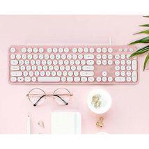 Actto KBD47 USB Wired Retro Korean English Keyboard (Pink) image 3