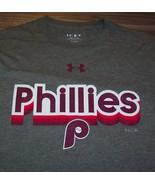 VINTAGE STYLE PHILADELPHIA PHILLIES MLB BASEBALL T-Shirt SMALL MENS Gray... - $19.80