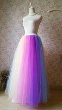 Adult RAINBOW Tulle Skirt Multi Colored Long Rainbow Tutu Skirts Plus Size  image 4