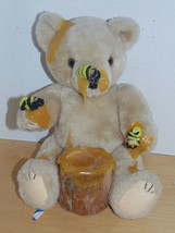 Bear With Honey Dripping & Bees on It Tee Trunk-Jointed-Some Honey Broke... - $2.99