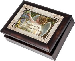 Cottage Garden Angel In The Garden Burlwood With Silver Inlay Italian St... - $56.21