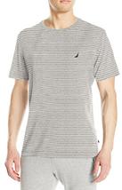 Nautica Men's Striped Pajama Shirt , Gray Heather, Size L, MSRP $34 - $16.82