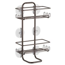 InterDesign Classico Suction Bathroom Shower Caddy Shelves for Shampoo, ... - $26.32
