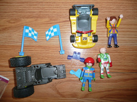 VINTAGE PLAYMOBIL LOT GEOBRA RACECAR AND DRIVER VARIOUS LOT MIXED - $15.99