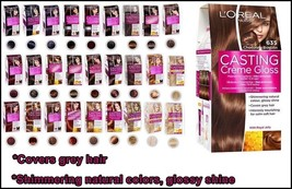 L'oreal Paris Casting Cream Gloss Permanent Hair Dye Ammonia Free Shades - $14.75