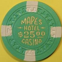 $25 Casino Chip, Mapes, Reno, NV. 1950s. T52. - $12.50