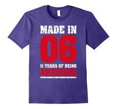 11th Birthday Gift T-Shirt Made In 2006 Awesome 11 years old Men - $17.95+