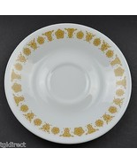 """Corning Butterfly Gold Pattern Flat Cup Saucer 6.25"""" Round Corelle White... - $2.99"""
