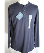 Croft & Barrow Men's Long Sleeve Easy Care Henley Knit Shirt size M New - $16.82