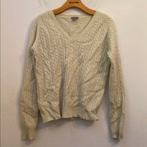 Ann Taylor cream/green crewneck sweater - $28.71