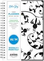"""2021 Weekly & Monthly Planner Flexible Cover Twin-Wire Binding 5"""" x 8"""", NEW - $10.99"""