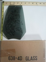 FREE US SHIP OK Touch Lamp Replacement Glass Panel Gray Flower Rose 638-4D - $9.75