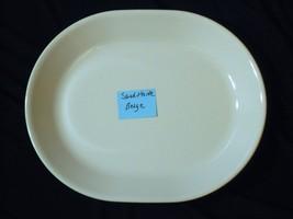 Corelle Sandstone Beige Oval Serving Platter 12 Inch - $12.86