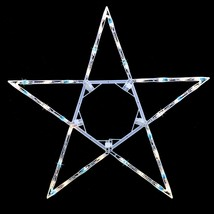 "32"" Folding Lighted Twinkling Star Christmas Window Decoration - Blue an... - $19.24"