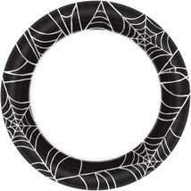 6.75 in x 6.75 in Spider Web Round Paper Plate Halloween Decoration Holi... - $51.90