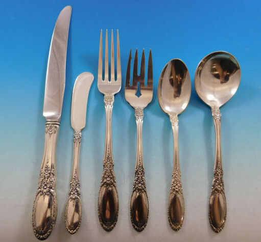 Primary image for Old Mirror by Towle Sterling Silver Flatware Set for 8 Service 58 Pieces
