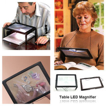Tabletop Magnifying Glass with LED Lights and Folding Stand - $24.74